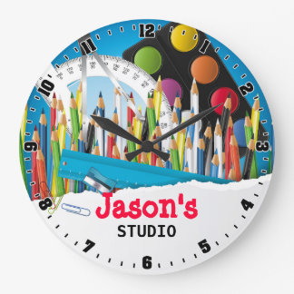 Artist Art Studio Personalizable Wall Clock