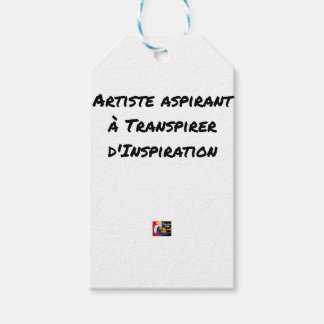 ARTIST ASPIRING TO PERSPIRE OF INSPIRATION GIFT TAGS