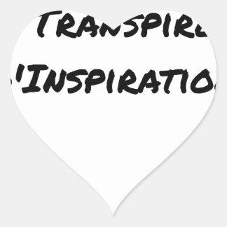 ARTIST ASPIRING TO PERSPIRE OF INSPIRATION HEART STICKER