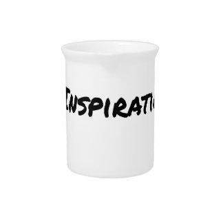 ARTIST ASPIRING TO PERSPIRE OF INSPIRATION PITCHER