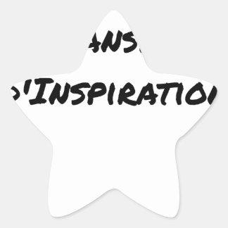 ARTIST ASPIRING TO PERSPIRE OF INSPIRATION STAR STICKER