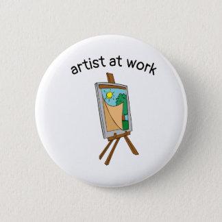 Artist at work button