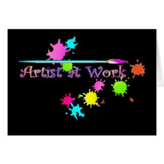 ARTIST at WORK by SHARON SHARPE Card