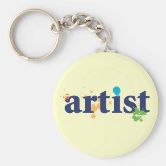 Artist Basic Round Button Key Ring