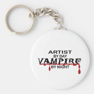 Artist by Day, Vampire by Night Key Chain