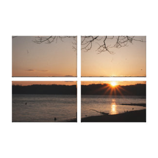 Artist Canvas in 4 panels gallery wraped . Canvas Print