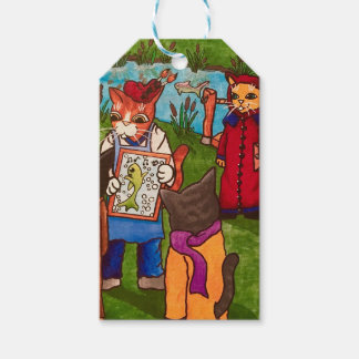 Artist Cat Gift Tags
