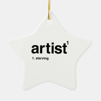 artist ceramic ornament