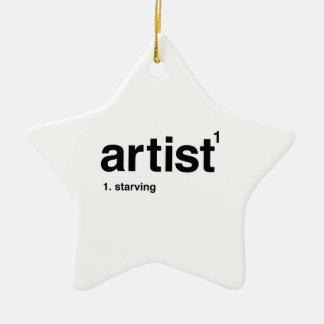 artist ceramic star decoration
