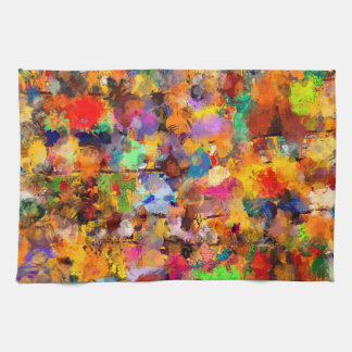 Artist Color Abstract Art Dab Hand Towel