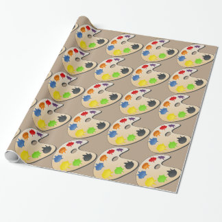 artist color mixing palette - wrapping paper