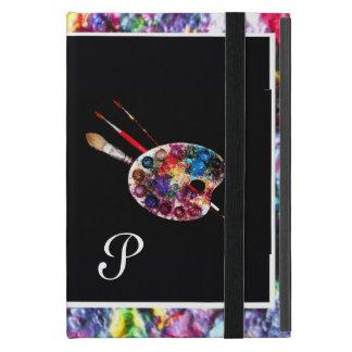 ARTIST COLOUR PALETTE MONOGRAM Black iPad Mini Cases