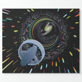 Artist concept Spacecraft Alcubierre Warp Drive Wrapping Paper