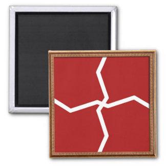 Artist created COLOR tone Decorative  graphic Square Magnet