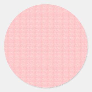 Artist created CRYSTAL pink rose TEMPLATE Blank gi Round Sticker