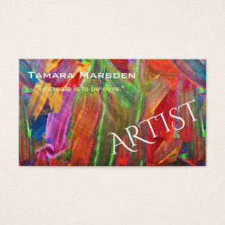 Artist Creative Business Card Colorful Abstract