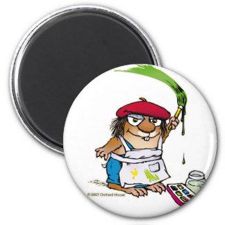 Artist Critter 6 Cm Round Magnet