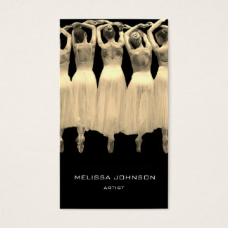Artist Dance School Sepia Black White Business Card