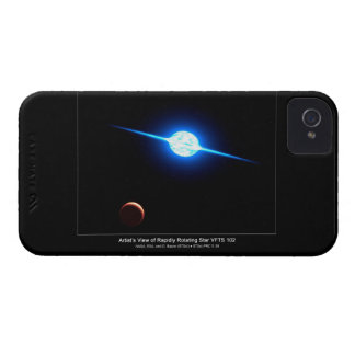 Artist Depiction of Fastest Rotating Star VFTS 102 iPhone 4 Case-Mate Cases