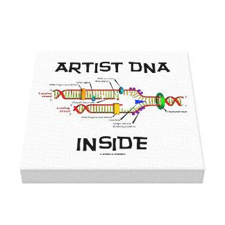 Artist DNA Inside Genes Genetics DNA Replication Canvas Print