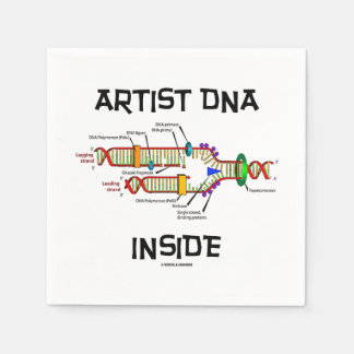 Artist DNA Inside Genes Genetics DNA Replication Disposable Serviettes