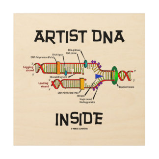 Artist DNA Inside Genes Genetics DNA Replication Wood Print