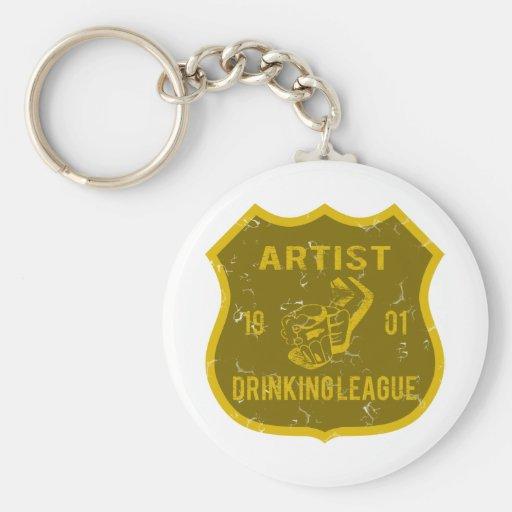 Artist Drinking League Keychain