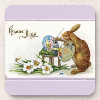 Artist Easter Bunny Lavender Beverage Coasters