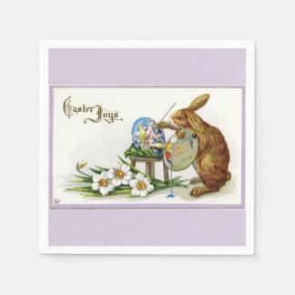 Artist Easter Bunny Lavender Paper Napkin