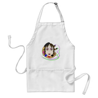 Artist Girl With Brown Eyes Aprons