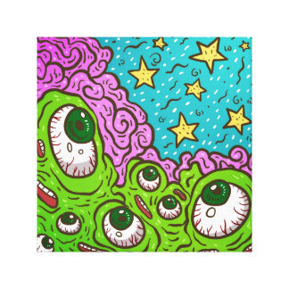Artist Googly Eye'd Monster Canvas Canvas Print