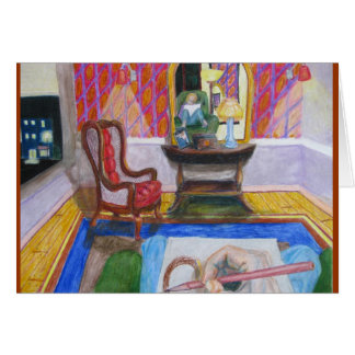 Artist in Room with Red Chair Card