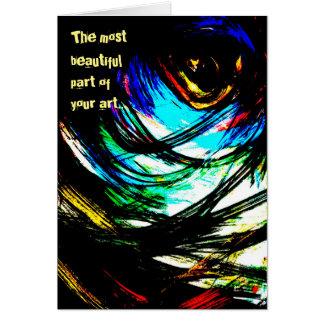 Artist Modern Art Painting Greeting Card