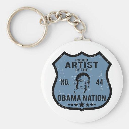 Artist Obama Nation Keychain
