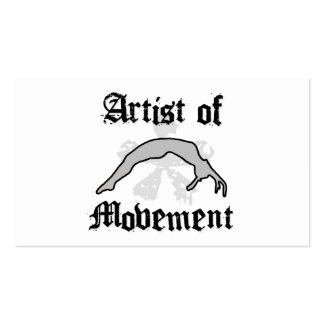 Artist of movement tumbling pack of standard business cards