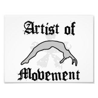 Artist of movement tumbling art photo