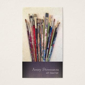Artist Paint Brushes Painter Business Card