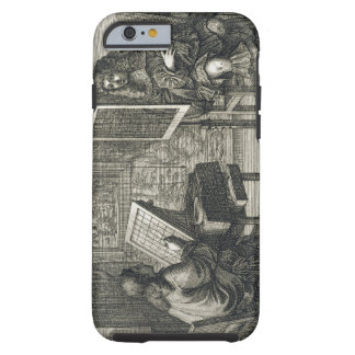 Artist painting a portrait over a grid for accurat tough iPhone 6 case