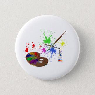 Artist Palette 6 Cm Round Badge