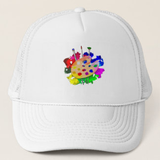 Artist Palette And Brushes Trucker Hat