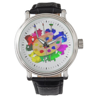 Artist Palette And Brushes Watch