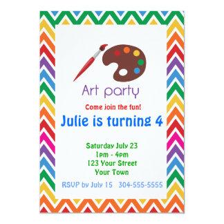 Artist Palette Birthday Party 13 Cm X 18 Cm Invitation Card