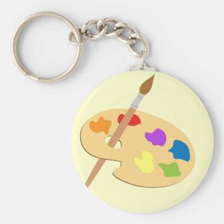Artist Palette Key Ring