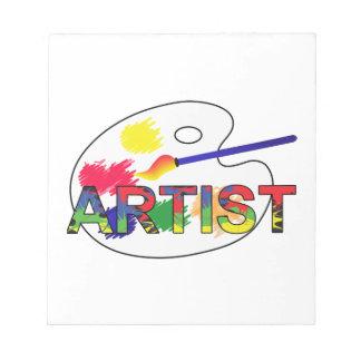 Artist Pallet Notepad