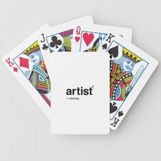 artist poker deck