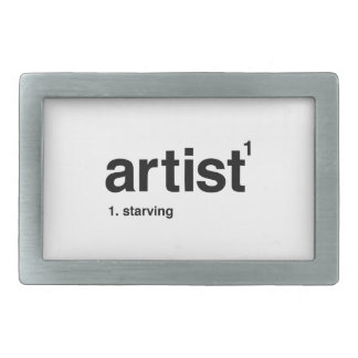 artist rectangular belt buckles