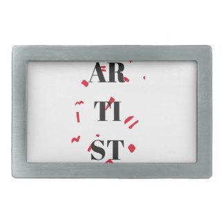 Artist Red Speck Design Illustration Text Rectangular Belt Buckles