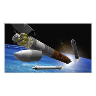 Artist rendition of a heavy-lift rocket photograph