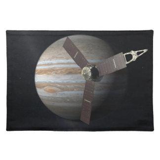 Artist rendition of JUNO orbiter at Jupiter Place Mat