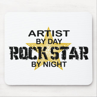 Artist Rock Star by Night Mouse Pad